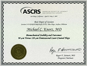 ASCRS Best Paper of Session Award